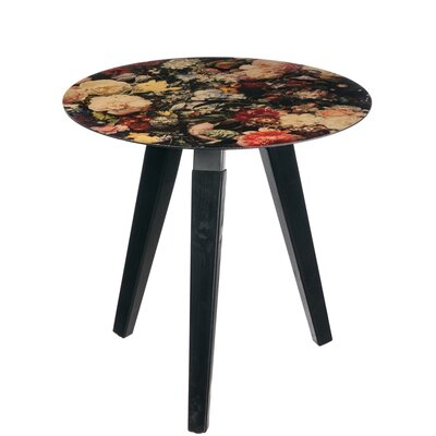 Downend Floral Round End Table