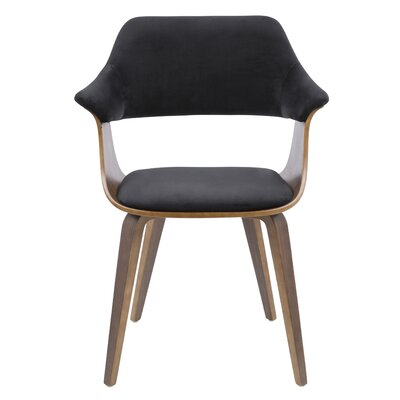 Christenson Upholstered Dining Chair Upholstery: Black