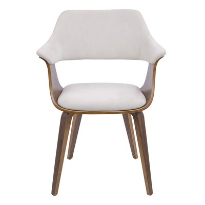 Christenson Upholstered Dining Chair Upholstery: Cream