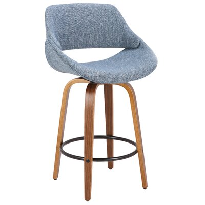 Chrisman 26 Swivel Bar Stool Color: Blue