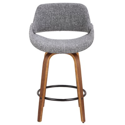 Chrisman 26 Swivel Bar Stool Color: Gray
