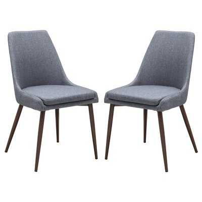 Bibler Upholstered Dining Chair Upholstery: Gray