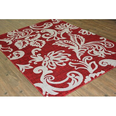 Temaraia Red Area Rug Rug Size: Rectangle 5 x 8