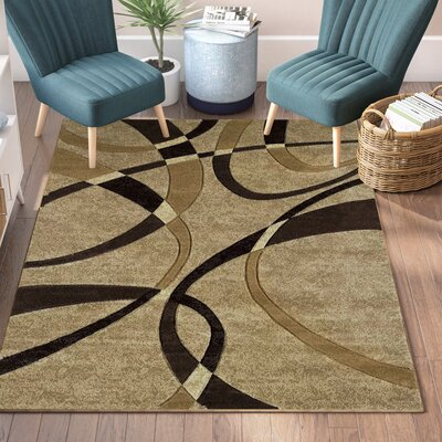 Havana Chocolate Rug Rug Size: Rectangle 53 x 76