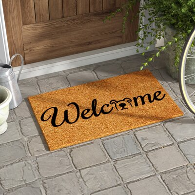 Horace Doggie Welcome Doormat Mat Size: Rectangle 15 x 25