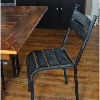 Linde Distressed Metal Dining Chair