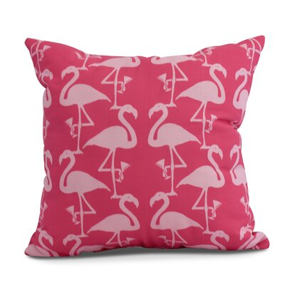 Carmack Flamingo Throw Pillow Color: Pink/Light Pink, Size: 16 x 16
