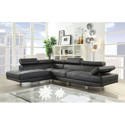 Gowdy Sectional Upholstery: Black