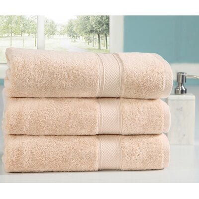 Peele 100% Combed Cotton Oversized Bath Sheet Color: Beige