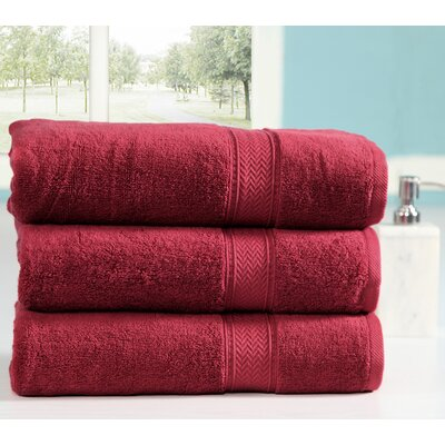 Peele 100% Combed Cotton Oversized Bath Sheet Color: Biking Red
