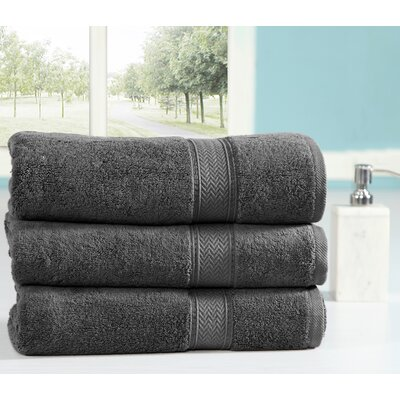 Peele 100% Combed Cotton Oversized Bath Sheet Color: Grey