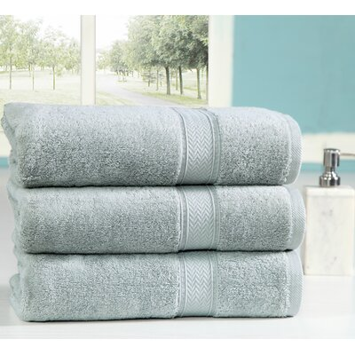Peele 100% Combed Cotton Oversized Bath Sheet Color: Jade