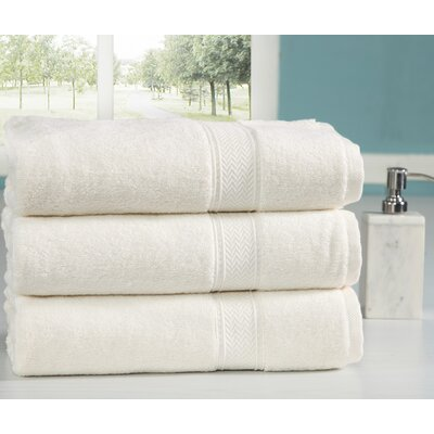 Peele 100% Combed Cotton Oversized Bath Sheet Color: Ivory