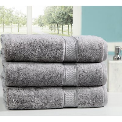 Peele 100% Combed Cotton Oversized Bath Sheet Color: Platinum