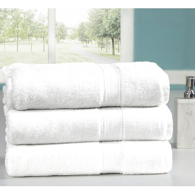 Peele 100% Combed Cotton Oversized Bath Sheet Color: White