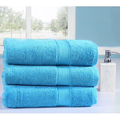 Peele 100% Combed Cotton Oversized Bath Sheet Color: Sea Blue