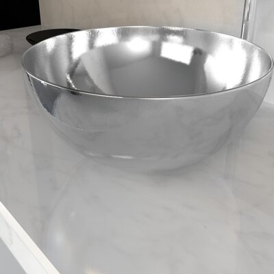 Stainless Steel Circular Vessel Bathroom Sink