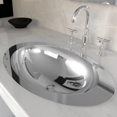 Stainless Steel Oval Drop-In Bathroom Sink