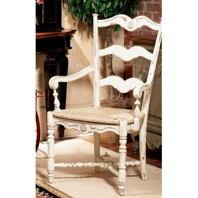 Cecile Dining Chair Color: Connoisseur - Muslin, Accents: Champagne