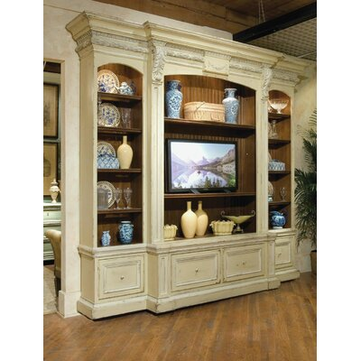 Hampshire Entertainment Center Color: Classic Studio - Warm Silver, Accents: Gold