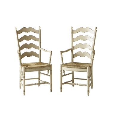 Ladderback Dining Chair Color: Classic Studio - Graystone, Accents: Gold