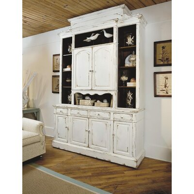 Sea Island Entertainment Center Color: Classic Studio - Antique Honey, Accents: Silver
