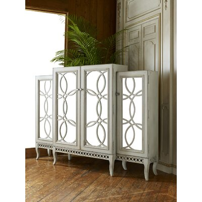 Lia Entertainment Center Color: Connoisseur - Classic White, Accents: Champagne