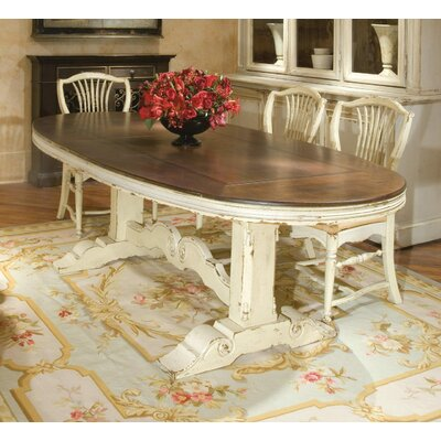 Southampton Extendable Dining Table Color: Connoisseur - Muslin, Accents: Silver