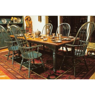 English Extendable Dining Table Color: Classic Studio - Graystone, Accents: Gold