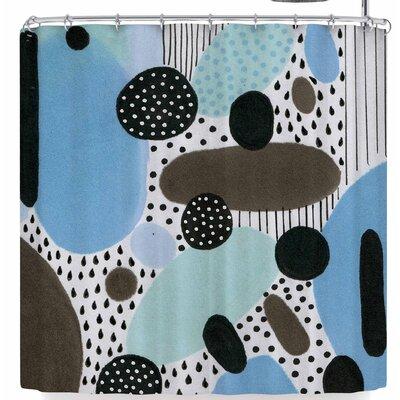Li Zamperini Alegro Ii Shower Curtain Color: Blue/Brown