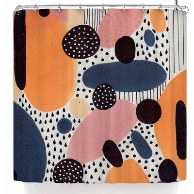 Li Zamperini Alegro Ii Shower Curtain Color: Orange/Blue