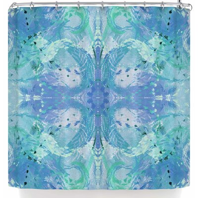 Nikposium Snowbird Swallow Shower Curtain Color: Blue/White