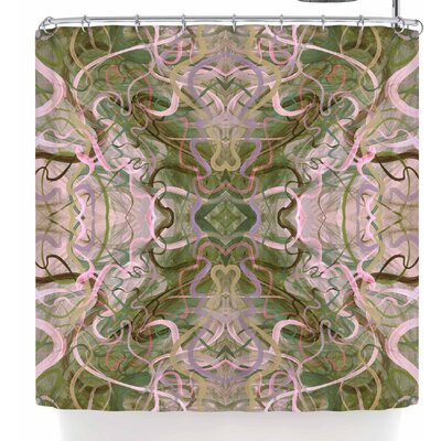 Nikposium Bacio Arancia Shower Curtain Color: Green
