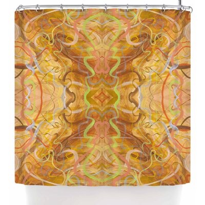 Nikposium Bacio Arancia Shower Curtain Color: Orange/Brown
