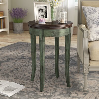 Ardin Vintage Style End Table Color: Green