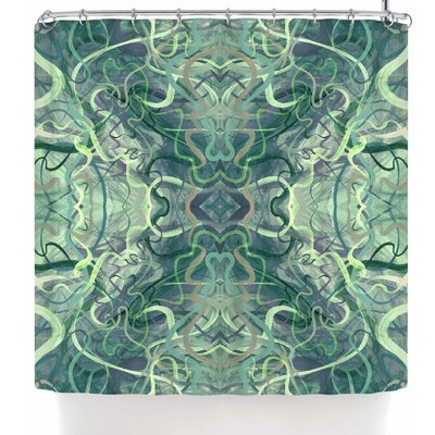 Nikposium Bacio Arancia Shower Curtain Color: Teal Green