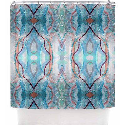 Nikposium Totem Azur Shower Curtain Color: Blue
