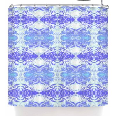 Nikposium Arrowhed Crema Shower Curtain Color: Blue/Lavender