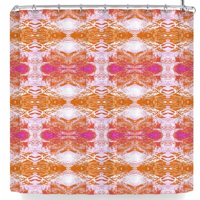 Nikposium Arrowhed Crema Shower Curtain Color: Orange/Pink