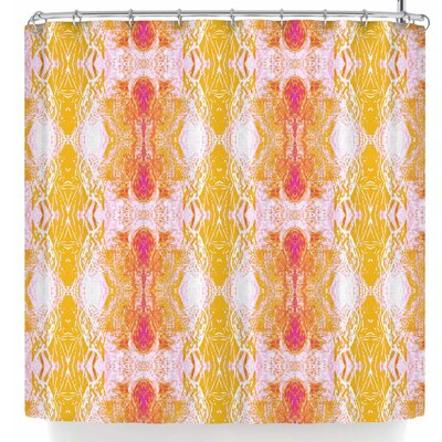 Nikposium Arrowhed Crema Shower Curtain Color: Yellow/Red