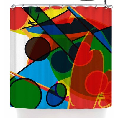 Frederic Levy-Hadida Overloaded 2 Shower Curtain Color: Red/Blue