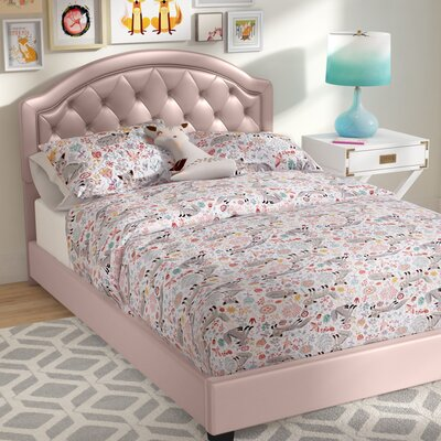 Cindy Panel Bedframe Size: Full, Color: Pink