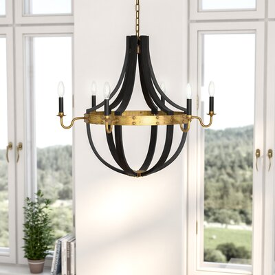 Karteek 6-Light LED Candle-Style Chandelier Size: 84 H x 24 W x 24 D