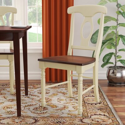 Shelburne Traditional Solid Wood Dining Chair (Set of 2) Finish: Merlot / Buttermilk