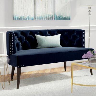 Kaysen Settee Upholstery: Dark Navy Blue