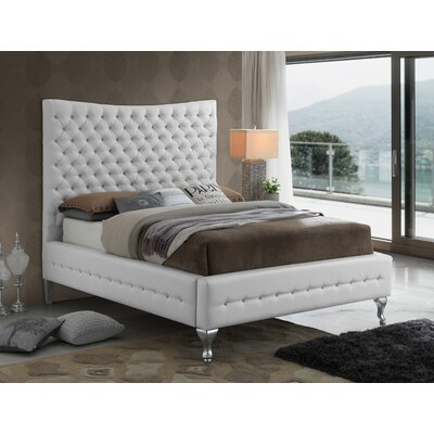 Kellems Tufted Upholstered Panel Bed Size: Full, Color: White