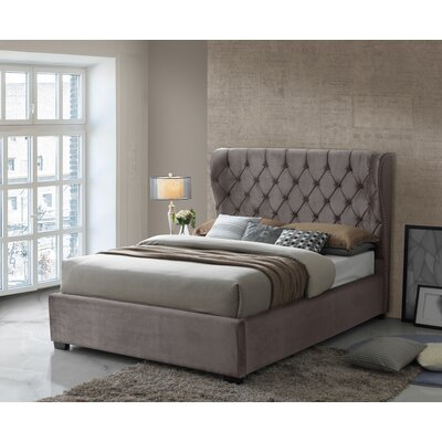 Kellar Tufted Upholstered Panel Bed Size: Queen