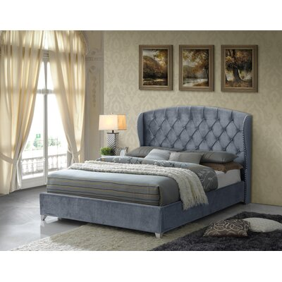 Keller Tufted Upholstered Panel Bed Size: King, Color: Gray