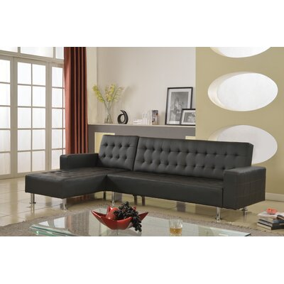Doll 2 Piece Living Room Set Finish: Black, Orientation: Right Hand Facing