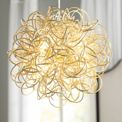 Gardner 6-Light Geometric Pendant Finish: Gold